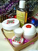 Набор косметики (взбитое масло ши, детский шампунь, крем с калагеном,крем с гидролизатом плаценты)