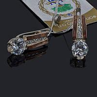 Серебряные серьги Эра с золотыми накладками, фото 1