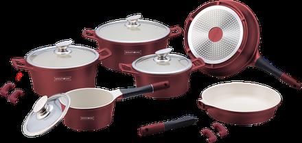 Набор посуды Royalty Line ES-1014 CB Bordo 14 предметов