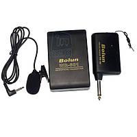 Петличный беспроводной микрофон Bolun WR-601 (приемник+передатчик+петличка) в упаковке футляре!