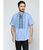 Блакитна чоловіча вишита сорочка Загадковість 06ae158cd31c1