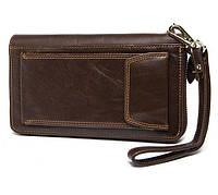 Клатч портмоне Marrant 5009Br темно-коричневый кожа, фото 1