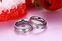 Шикарное обручальное кольцо из нерж.стали 316L с алмазами!