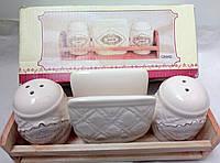 Набор солянок+подставка для салфеток (4 пред), фото 1