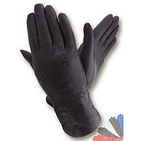 Женские перчатки из натуральной кожи на шерстяной подкладке модель 008.
