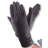 Женские перчатки из натуральной кожи на шерстяной подкладке модель 135.