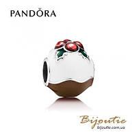 Pandora Шарм РОЖДЕСТВЕНСКИЙ ПУДИНГ #791412ENMX серебро 925 Пандора оригинал