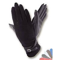 Женские перчатки из натуральной кожи на шерстяной подкладке модель 256.