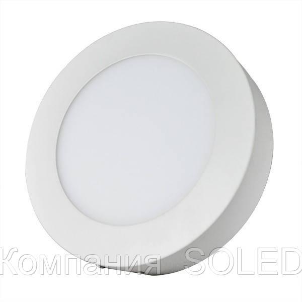Накладной Led светильник 12w 1080Lm, 3000K алюминий