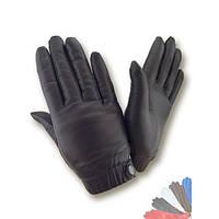 Женские перчатки из натуральной кожи на шерстяной подкладке модель 421.