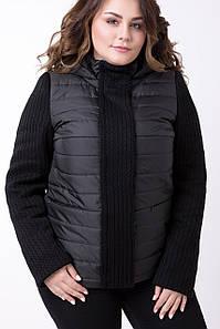Демисезонная женская куртка больших размеров 48 50 56-64