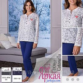 Пижама женская хлопок. Домашняя одежда для женщин Cotonella™