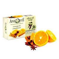 Оливковое мыло с маслом апельсина и корицей, Aphrodite®, натуральное, 100 г