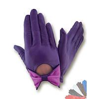 Женские перчатки из натуральной кожи без подкладки модель 434.