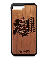 Деревянный чехол на Iphone 7 plus  Full Protected