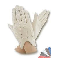 Женские перчатки из натуральной кожи без подкладки модель 060.