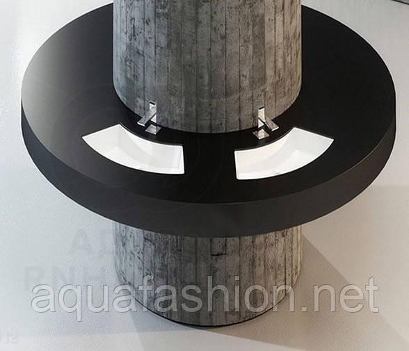 Напівкруглий вбудовуваний умивальник під стільницю DISEGNO CERAMICA SMILE 83 см