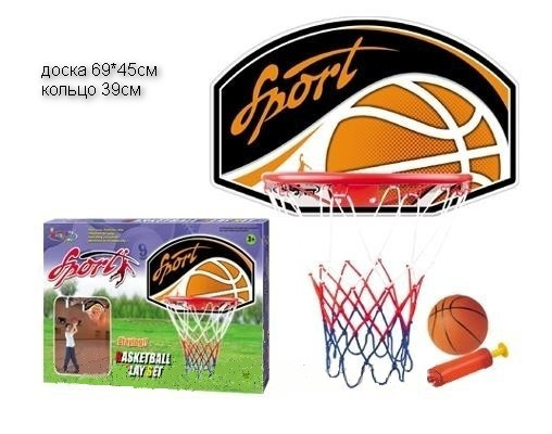 Баскетбольный набор СТАНДАРТ щит корзина мяч насос