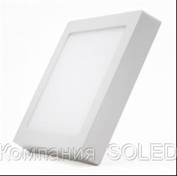 Накладной светильник 24w 2160Lm, 3000K алюминий