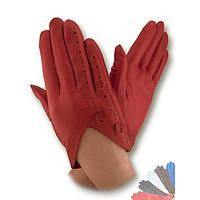 Женские перчатки из натуральной кожи без подкладки модель 247.