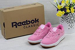 Кроссовки  Reebok Workout Classica женские (розовые), ТОП-реплика
