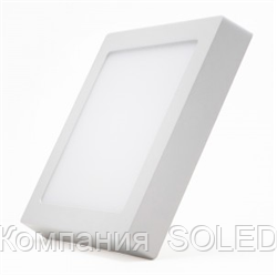 Накладной светильник 24w 2160Lm, 6500K алюминий