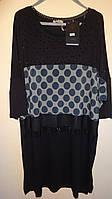 Турецкая женская блуза -туника Горох 60-64рр Luizza (Турция)