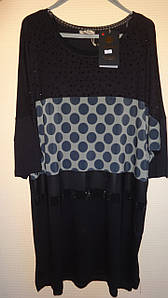 Турецкая женская блуза -туника Горох 54-58 рр Luizza (Турция) 58-60