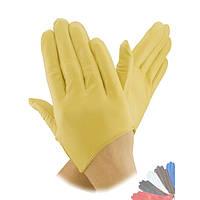 Женские перчатки из натуральной кожи без подкладки модель 316