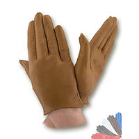 Женские перчатки из натуральной кожи без подкладки модель 341.