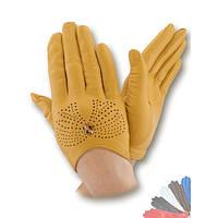 Женские перчатки из натуральной кожи без подкладки модель 357.