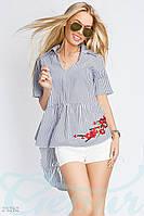 Асимметричная блуза полоска Gepur 21262
