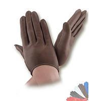 Женские перчатки из натуральной кожи без подкладки модель 377.