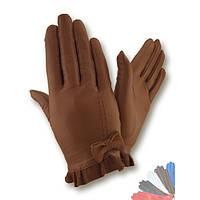 Женские перчатки из натуральной кожи без подкладки модель 437.