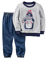 """Комплект Картерс джинсы + кофта 2Т,3Т,5Т """"Пингвиненок"""""""