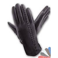 Женские перчатки из натуральной кожи на подкладке из натрального меха модель 268.