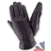 Мужские перчатки из натуральной кожи на шерстяной подкладке модель 031.