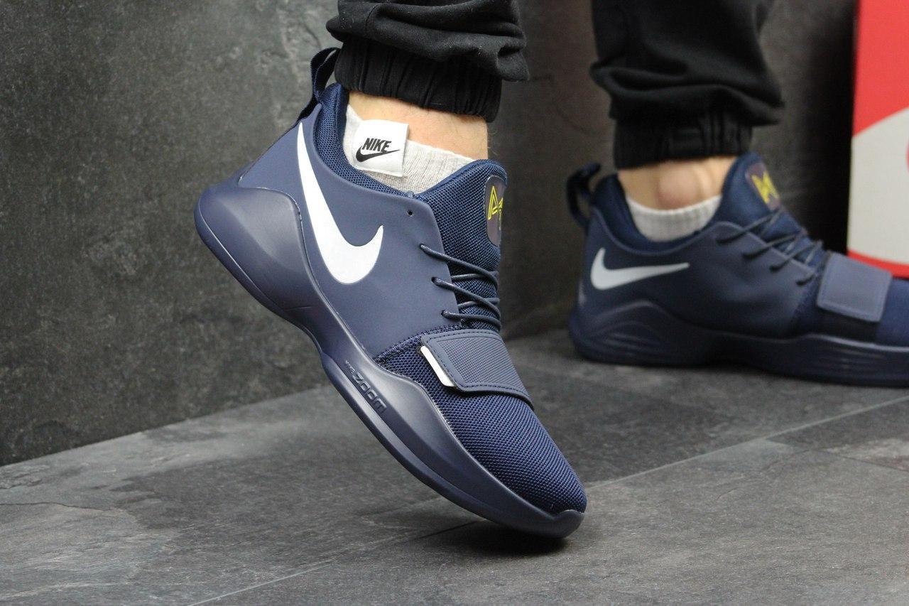Кроссовки  Nike Zoom мужские (синие с белым), ТОП-реплика
