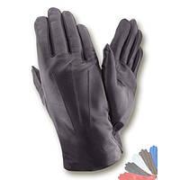 Мужские перчатки из натуральной кожи на шерстяной подкладке модель 070.