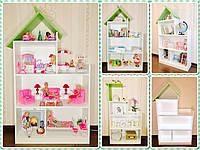 Кукольный домик для Барби с освещением на всех этажах и цветной подъемной крышей (Мегадомик)