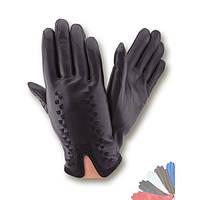 Мужские перчатки из натуральной кожи на шерстяной подкладке модель 226.
