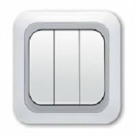 Выключатель 3-клав. VIKO Yasemin белый