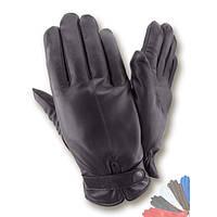 Мужские перчатки из натуральной кожи на шерстяной подкладке модель 320.