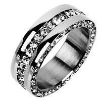 Брендовое кольцо с цирконием! (нерж.сталь 316L)