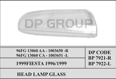DP BP 7922 Скло фари -L FORD FIESTA
