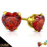 Сережки «Золота любов»