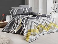 Комплект постельного белья ранфорс евро размер Cottonlan KERRY-GRI