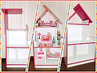 Кукольный домик для Барби с освещением на всех этажах и цветной подъемной крышей (Тилидомик)