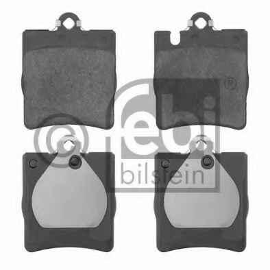 PSP D0873A Колодки тормозные задние MERCEDES W203/W210
