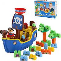 """Набор """"Пиратский корабль"""" + конструктор (30 элементов) (в коробке) 62246"""